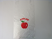 Item No. 596  T-Shirt Poly Bag, clear, apple, 1,000 pack