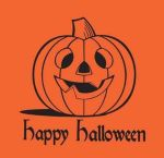 Item No 597  Halloween T-Shirt Poly Bag, Orange  1,000 pack