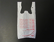 "Item No. 641  T-Shirt Poly Bag, white, printed ""Thank You""  1500 pack"