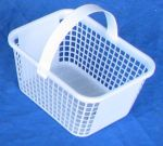 Item No 714  2 Quart Plastic Mesh Basket, white, 352 pack