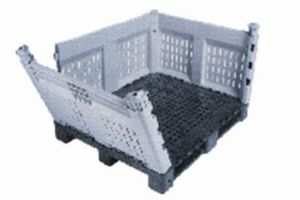 Item No 758  Bulk Container, plastic, removable walls