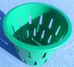 Item No 799,   5/8 Bushel Hamper Picking Basket, green, heavy duty plastic, 6-pack