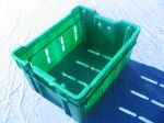 Item No 817    1.75 Bushel Harvesting Container, green, plastic, vented (6-pack)