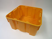Item No 819   1 1/4 Bushel Harvesting Container, Orange, Plastic Qty 6