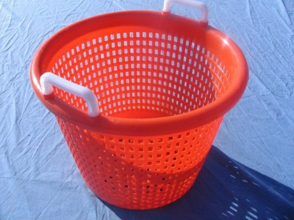 Item No 820 1 25 Bushel Harvesting Basket Orange Plastic
