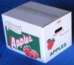 "Item No 823  1 Bushel Carton Cover, Corrugated, ""Quality Apples"", 500 pack"