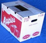 "#880  1 1/9 Bushel Carton, Cascaded Wax RSC, ""Quality Apples"", 280 pack"