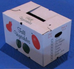 "Item No 884 ,  2,950 Cubic Inches Bulk Carton, ""Fall Vegetables"", Cascaded Wax, 280 pack"