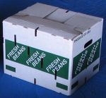 "Item No 888  Carton waxed ""Fresh Beans"" 560 pack"