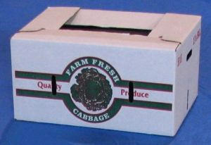 "Item No 892,  1 7/8 Bushel Cascaded Wax 50 pound Carton, ""Cabbage"", 280 pack"