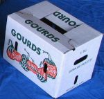 "Item No 893  1/2 Bushel Cascaded Wax Carton, ""Gourds"", 560 pack"