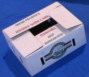 Item No 895  1/2 Bushel Wax Vegetable Produce Box  600 pack