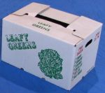 "Item No 896  Cascaded Wax Carton, ""Leafy Greens"",  2,950 cubic inches, 280 pack"