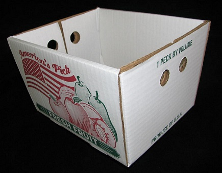 Item No 910  Peck Corrugated Hamper Box, white 500 pack