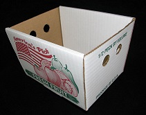 Item No 911  1/2 Peck Corrugated Hamper Box, white, 500 pack