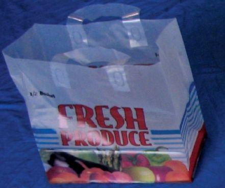 Item No 924 1 4 Peck Plastic Tote Flat Bottom Bag 500 Pack