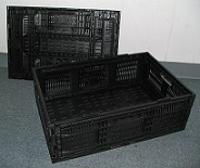 Item No 991  Collapsible Black Plastic Produce Lug