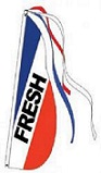 P13FRESH  Flag Feather, Fresh