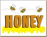 Item No P26HON  Honey Marketeer, 26 in. x 20 in.