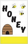 Item No P28HON  Honey Flag 28 inches  x 44 inches long Nylon