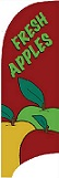 Item No  P7APP  Tail Flag, Fresh Apples, 7 feet tall with flag pole