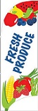 Item No P7PROFR  Tail Flag, Fresh Produce, 7 feet tall with flag pole