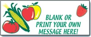 Item No P8BLNKPRO Customizable Banner with Produce Artwork