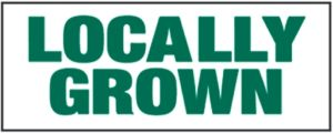 "Item No P8LOCGRWNHD ""Locally Grown"" 3 ft x 8 ft Heavy Duty Banner"