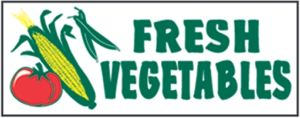 "Item No P8VEGFRHD ""Fresh Vegetables"" Heavy Duty Banner"
