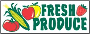 "Item No P8PROFR ""Fresh Produce"" 3 ft x 8 ft Banner"