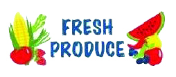 "Item No P8PROFRHD ""Fresh Produce"" 3 ft x 8 ft  Heavy Duty Banner"